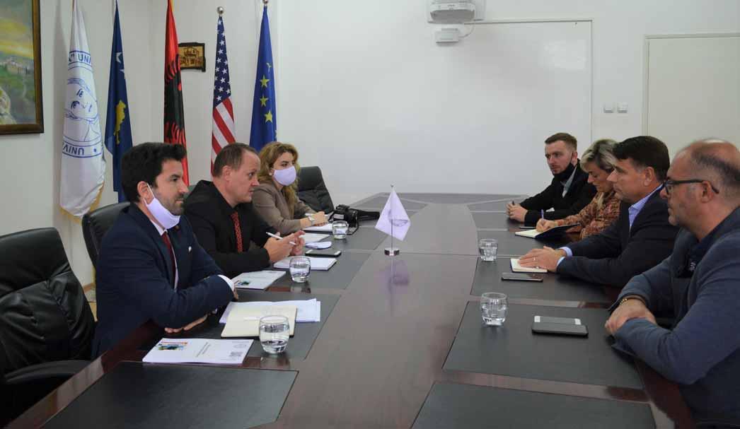 "'HERAS Plus' Team meets with the representatives of the University ""Kadri Zeka"" in Gjilan"